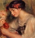 portrait of gabrielle also known as young girl with flowers