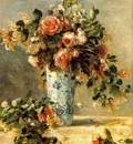 roses and jasmine in a delft vase 1890