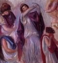 scene antique femmes aux peplums