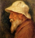 self portrait with a white hat