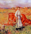 shepherdess cow and ewe 1886