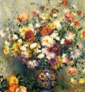 vase of chrysanthemums 1880