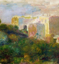 View from Renoirs Garden in Montmartre