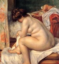 woman after bathing