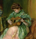 woman with a guitar 1896