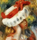 young girl with a hat