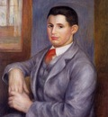 Young Man in a Red Tie Portrait of Eugene Renoir 1890 Private collection
