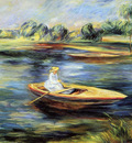 Young Woman Seated in a Rowboat