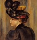 young woman wearing a black hat