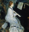 young woman at the piano