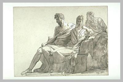 Etude pour le tableau Phedre et Hippolyte