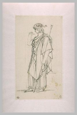 La figure d Oreste  debout et drapee