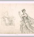Etude de la figure d Hermione et croquis de la figure de Pyrrhus