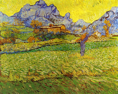 a meadow in the mountains  le mas de saint paul