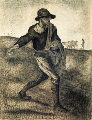 a sower after millet
