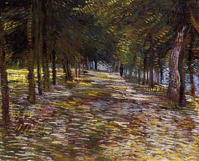 Avenue in Voyer dArgenson Park at Asnieres