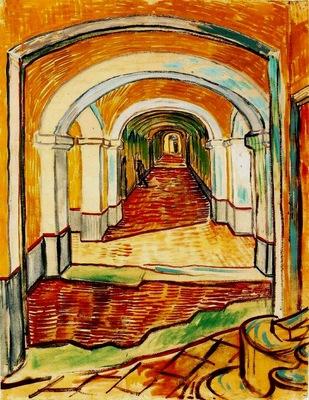 corridor in saint paul hospital aka corridor in asylum