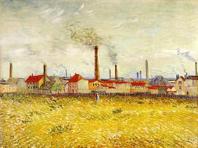 factories at asnieres seen from the quai de clichy