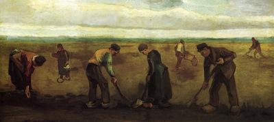 farmers planting potatoes