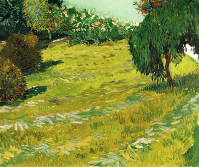 garden with weeping willow