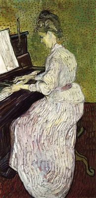 marguerite gachet at the piano