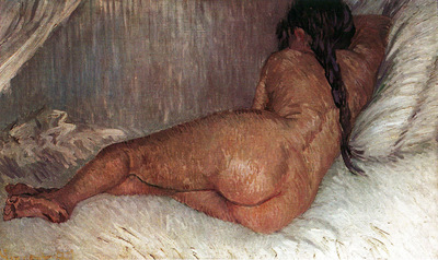 Nude Woman Reclining Seen from the Back1887