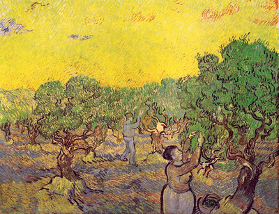 Olive Grove with Picking Figures 1889  jpg