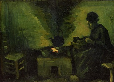 Peasant Woman by the Fireplace1885