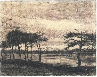 Pine Trees in the Fen1884