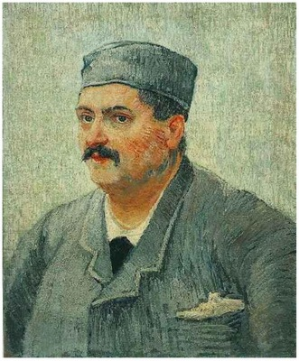 Portrait of a Man with a Skull Cap1887