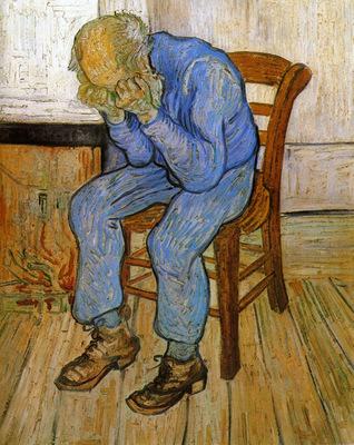 sorrowful old man