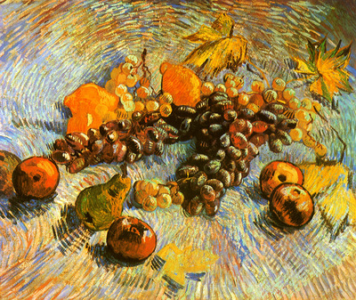 Still Life with Apples Pears Lemons and Grapes