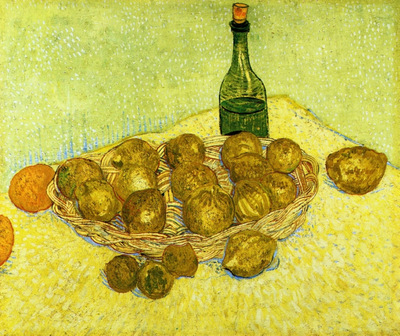 Still Life with a Bottle Lemons and Oranges1888