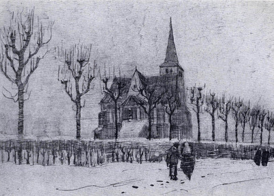 the church in nuenen in winter