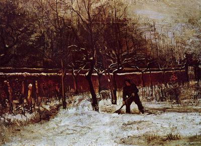 the parsonage garden at nuenen in the snow