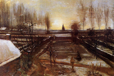 the parsonage garden at nuenen in the snow