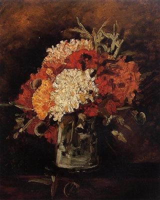 Vase with Carnations 1886 jpg