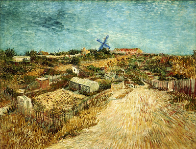 vegetable gardens in montmartre 1887