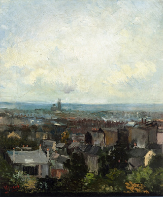 view of paris from near montmartre