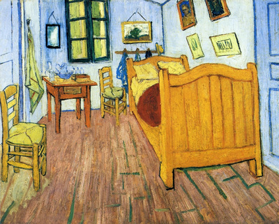 Vincents Bedroom in Arles 1888 jpg
