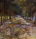 Avenue in Voyer dArgenson Park at Asnieres