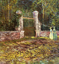 Entrance to the Park at Voyer dArgenson in Asnieres1887