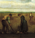 farmers planting potatoes