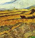 field and ploughman and mill