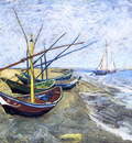 fishing boats on the beach at les saintes maries de la mer
