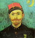 portrait of milliet second lieutnant of the zouaves