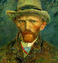 Self Portrait with Grey Felt Hat
