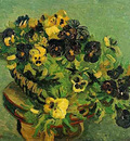 tambourine with pansies
