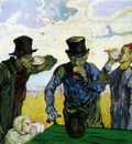 the drinkers after daumier