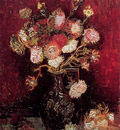 Vase with Asters and Phlox  Late Summe